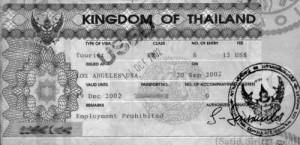 Thailand Tourist Visa Information